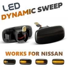 2Pcs LED 사이드 마커 라이트 화살표 닛산 스카이 라인에 대 한 신호 깜박이 램프 써니 세레나 프리메라 P11 P12 Stagea Sylphy Slivia