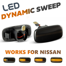 2Pcs LED Side Marker Lights Arrow Turn Signal Blinker Lamps For Nissan Skyline Sunny Serena Primera P11 P12 Stagea Sylphy Slivia
