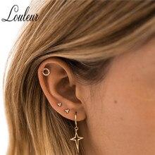 Louleur New Steel titanium Dangle Earrings Cross Circle Simple Ear Buckle Classical & Beauty Style 2019 NEW