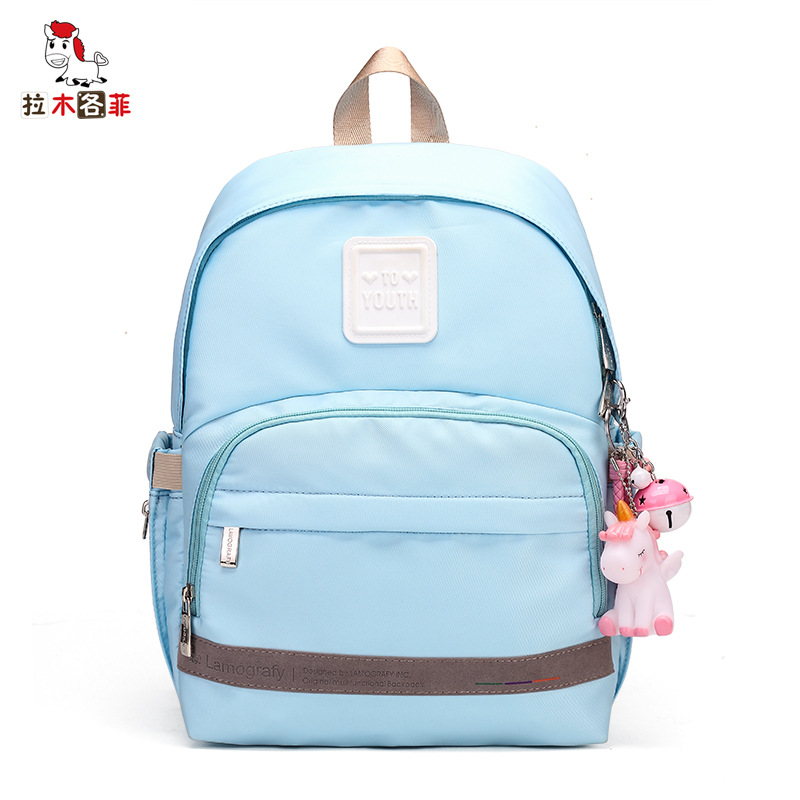 La Mu Each Phenanthrene Autumn New Products Diaper Bag Large Capacity Out Of Fashion Backpack Solid Color Expectant Mommy Bag In