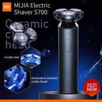 Elektrische Rasierapparate S700 Xiaomi Mijia Rasierer Bart Maschine Für Männer Trocken Nass Bart Mit Cutter Köpfe Trimmer Wiederaufladbare