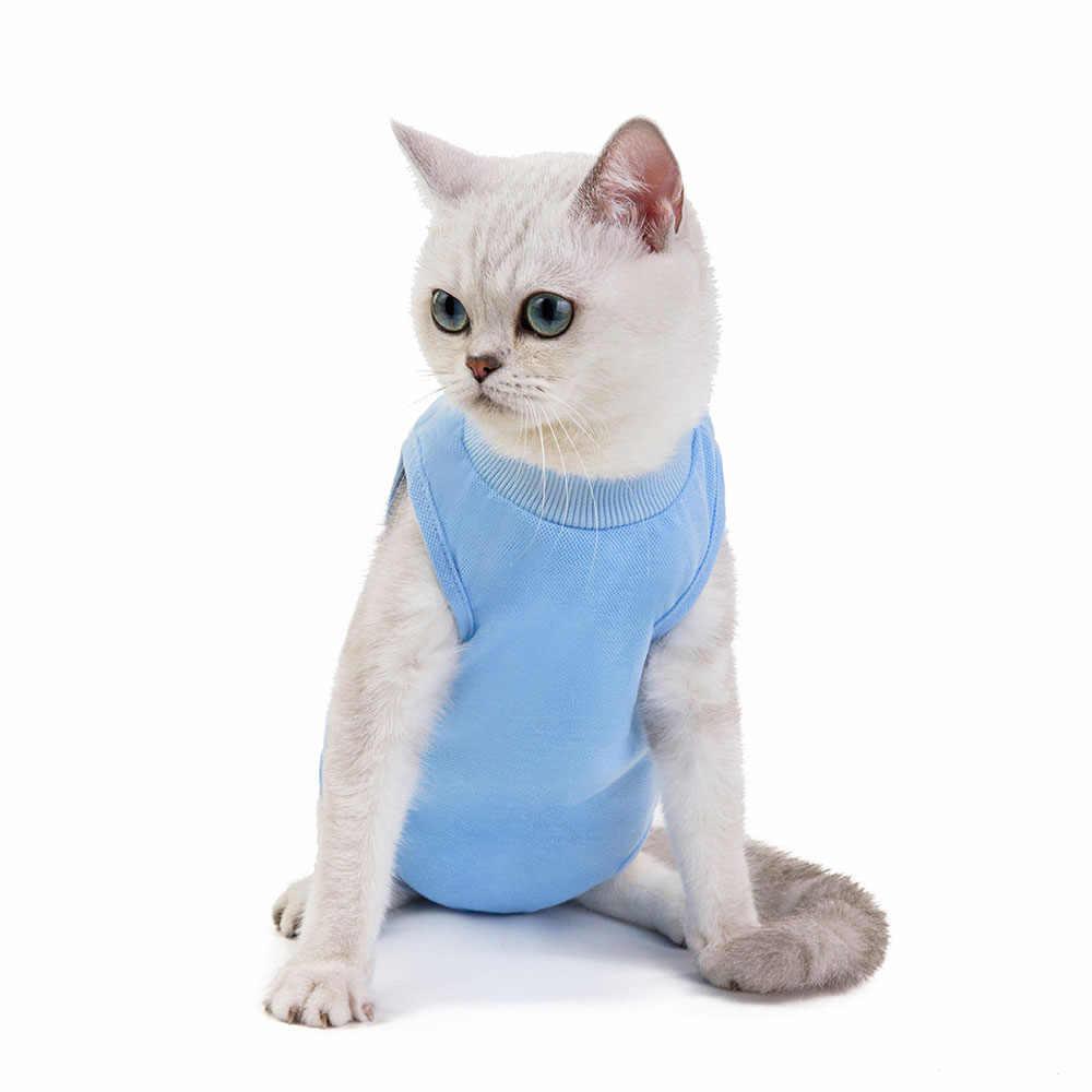Profesjonalny kombinezon regeneracyjny dla kotów rany brzucha lub choroby skóry po operacji nosić e-kołnierz alternatywa dla psów kotów szczeniąt