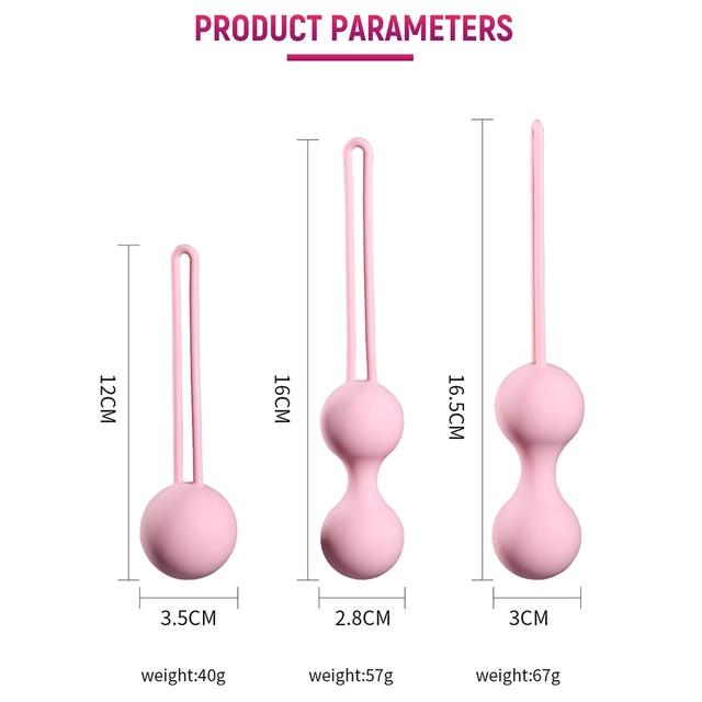 Silicone Magnetic kegels Balls Egg Smart Ball Ben Wa Vaginal Tighten Exercise Machine Vibrator Geisha Ball Sex Toys for Womens 5