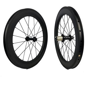 Bicicleta plegable 20 pulgadas 406 fibra de carbono BMX ruedas/llanta V freno y disco disponible para bicicleta ciclista plegable