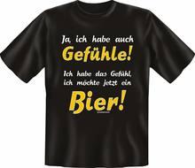 T-shirt Gefuhle Pour Biere Fun, Haut DAnniversaire Cornee imprimé, Cadeau