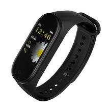 M4 สร้อยข้อมือสมาร์ทความดันโลหิต Heart Rate สุขภาพการตรวจจับกีฬากลางแจ้งสร้อยข้อมือ Step Counter เตือนสำหรับสตรี