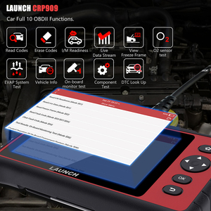 Image 2 - Launch escáner X431 CRP909 OBD2, reinicio de aceite IMMO SAS DPF TPMS, Sistema completo OBD, lector de código PK MK808 Launch X431 ODB2
