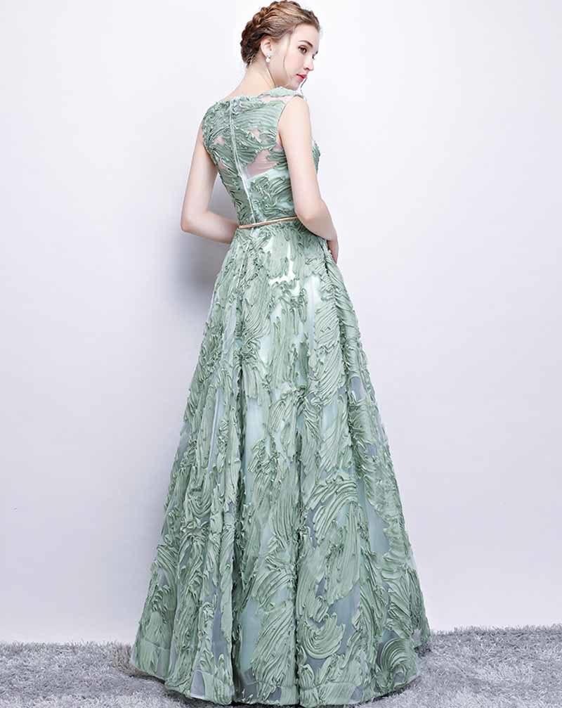 N personnalisé Floral Applique Illusion vert de luxe robe de soirée grande taille robe Maxi tapis rouge robe de bal grande taille 5xl - 5