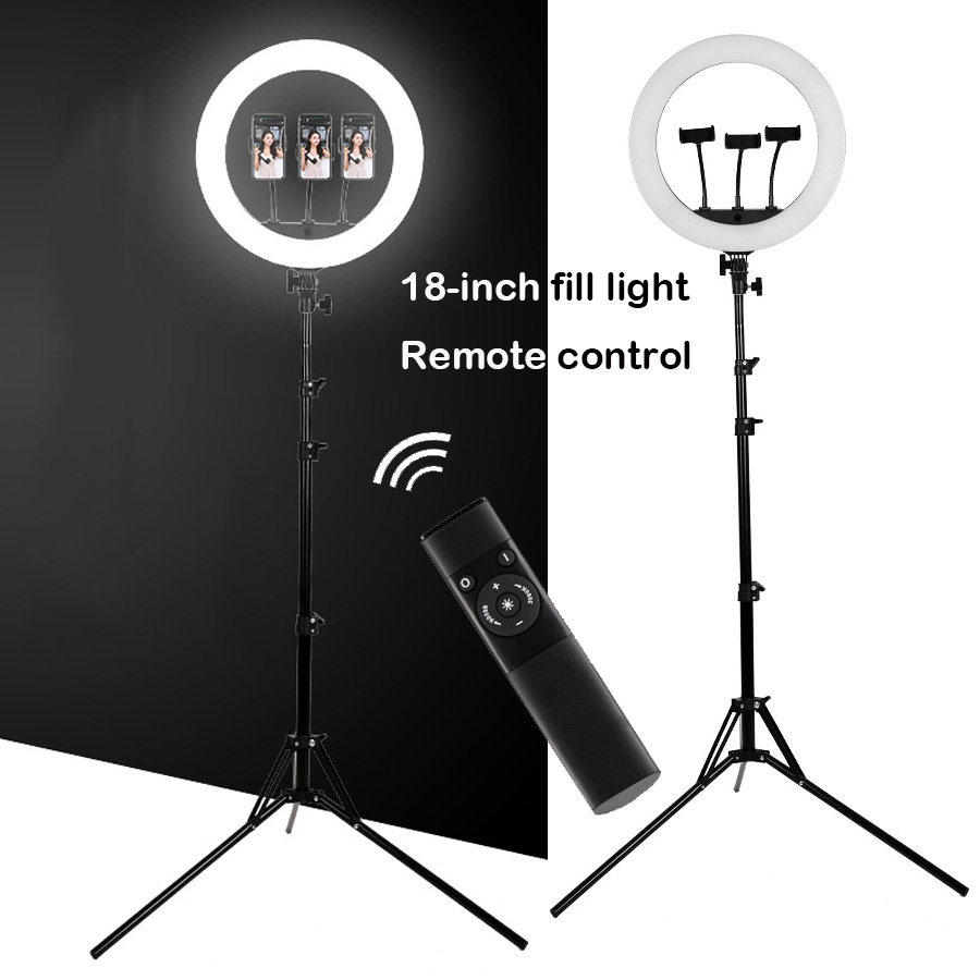 18 Inch Led Ring Light Photography Lighting Camera Phone Makeup Video Ring Lamp With Tripod Stand And Remote live Broadcast