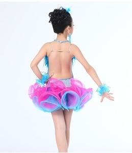 Image 4 - Children Professional Latin Dance Dress for Girls Ballroom Dance Competition Dresses kids Modern Waltz/tango / Cha Cha Costumes