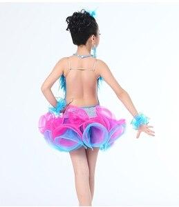 Image 4 - Kinderen Professionele Latin Dans Jurk Voor Meisjes Ballroom Danswedstrijd Jurken Kids Moderne Waltz/Tango/Cha Cha Kostuums