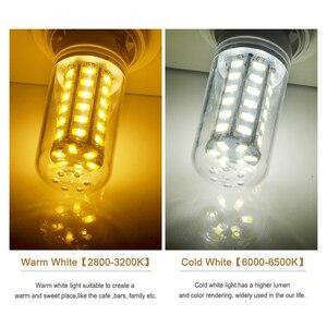 Goodland E27 светодиодный светильник 220V светодиодный лампы SMD 5730 E14 Светодиодный светильник 24 36 48 56 69 72 светодиодный s тип «Кукуруза» Люстра для до...