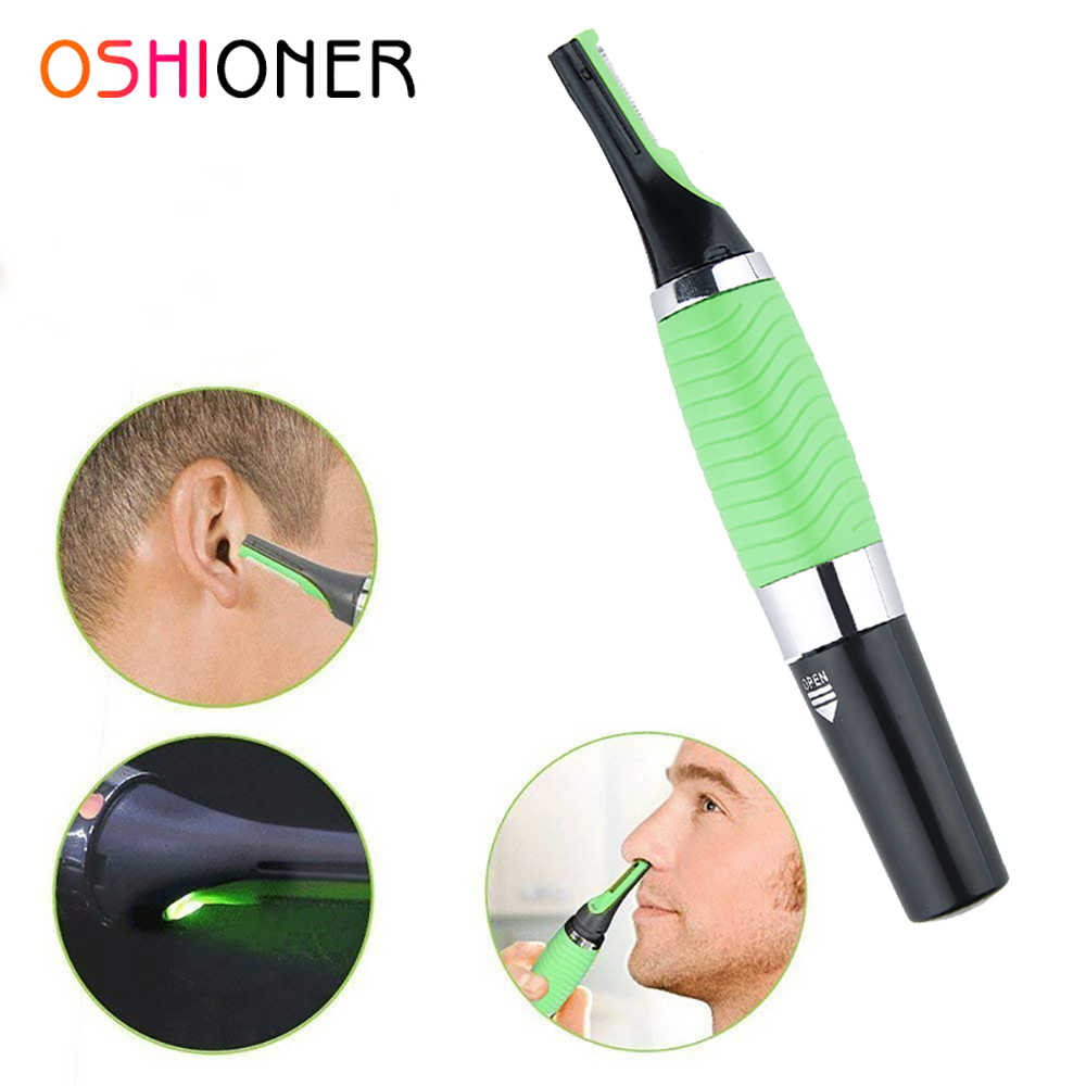 OSHIONER 1PC Electric Ear Nose Neck Eyebrow Trimmer Implement Hair Removal Shaver Clipper for Man and Woman