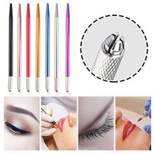 цена 1PC Microblading Tattoo Machine Tools Tattoo Permanent Tattoo Eyebrow Makeup Manual Pen Handle Eyelash Mini Makeup Tool онлайн в 2017 году