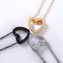 Romantic Valentine Day Couples Choker Necklace Hollow Out Alloy Heart Shape Ladies Necklace Fashion Jewelry Gifts For Women цена 2017