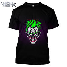 WSFK American Batman Anime T-shirt Clown 3D Print Funny T-shirt Casual Hip-hop Round Neck Short Sleeve T-Shirt Sweatshirt недорого