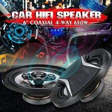 Haut-parleur universel de voiture, 2 pièces, 6 pouces, 650W, 4 voies, Coaxial, Hifi, Audio, musique stéréo, Installation Non destructive