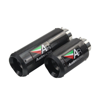 51mm 61mm Universal Motorcycle AR Exhaust Muffler Carbon Fiber GP Modified Scooter Motorbike Pit Bike For AR Exhaust Pipe