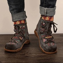 Bohemian Motorcycle Boots Women Spring PU Ankle Boots Shoes