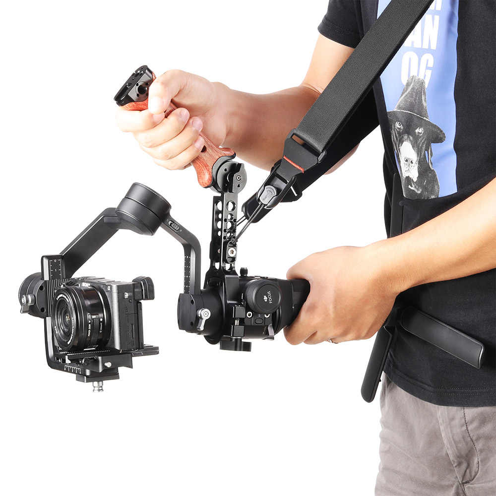 كاميرا صغيرة DSLR متينة مع حزام انحراف للكتف يمكن ضبطه من أجل DJI Ronin S/SC سلسلة رافعة Gimbal ZhiYun سلسلة انحراف 2466