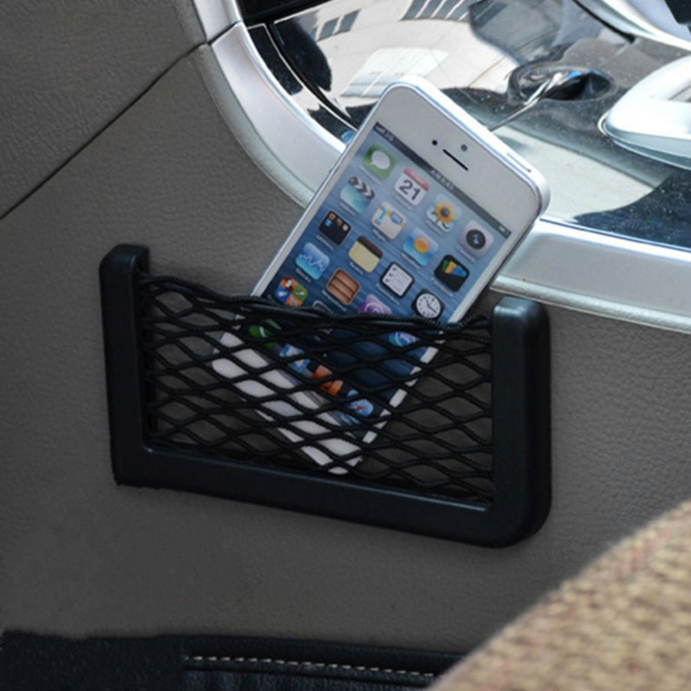 Car Net String Box Pocket Organizer Bags Baskets Mobile Phone Holder Seat Side Back Storage Network Shelf Nets Auto Mesh Nets image