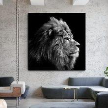 Nowoczesne plakaty i druki zwierząt obraz ścienny na płótnie król lew dekoracyjne picturecdros Decor bez ramki