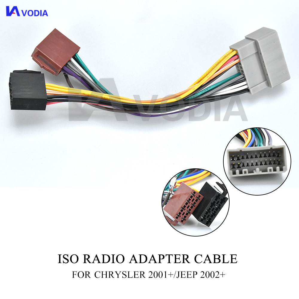 Radio Adapter for Chrysler 2001+//Jeep 2002+ CARAV 12-007 ISO Adapter Cable