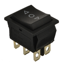 1pcs Automatic Rebound Ship-shape 6-pin 3 File Power Switch For Car Motorcycle Boat Rocker Switch AC 250V/16A AC 125V/20A 5 small round black 2 pin 2 files 3a 250v 6a 125v rocker switch seesaw power switch