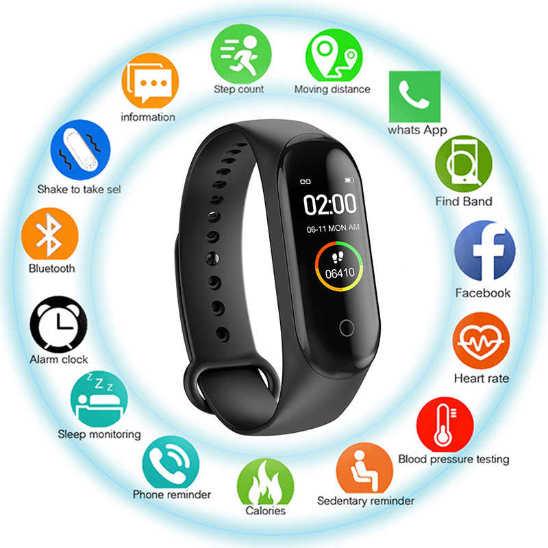 נשים ספורט שעון כושר גשש עמיד למים לחץ דם חכם צמיד Bluetooth שיחת תזכורת צמיד עבור iOS אנדרואיד