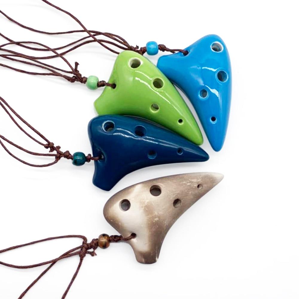 Керамический подводный инструмент Ocarina Alto C с 6 отверстиями, музыкальный инструмент со шнурком, для любителей музыки и начинающих 3