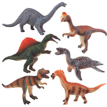 Jurassic bb shao Acoustic Vinyl Imitation Dinosaurs Plastic Model T-Rex Animal Set Children Boy Toy