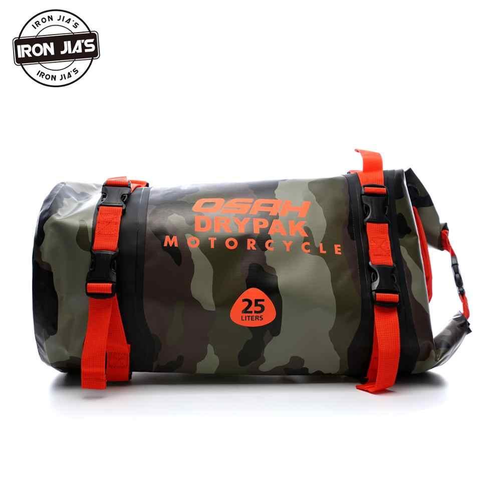 OSAH DRYPAK 15L/20L/25L, bolsas traseras impermeables para motocicleta, bolsa de asiento trasera de motocicleta duradera multifuncional, bolsa de PVC de alta capacidad