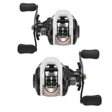 цены Double Brake Explosion-proof Line Fishing Reel Right/Left Baitcasting Reel Fishing Reel Magnetic and Centrifugal Dual Brake