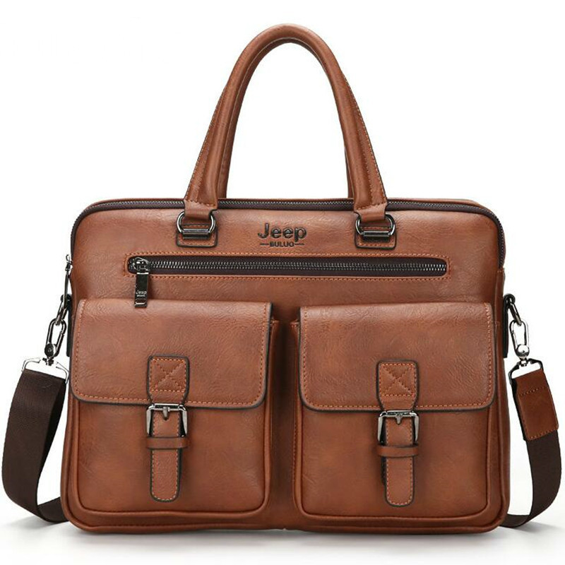 New Men's Briefcase Satchel Bags For Men Business Fashion Hand Bag Messenger Leather Bag Laptop Bag Bolso Hombre Luxury Handbags
