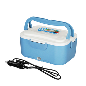 1.5L 12V/24V Portable Car Electric Heating Lunch Box Bento Food Warmer Container for Traveling Heating Car Rice Cooker