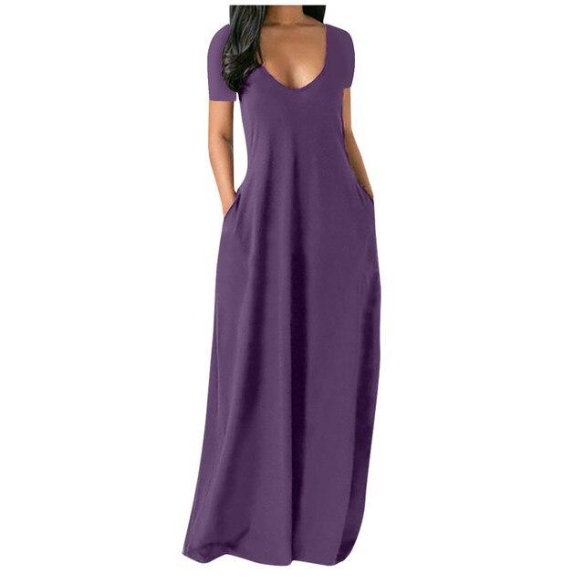 Fashion Summer Maxi Dress Women's Printed Sundress Casual Short Sleeve Vestidos Female High Waist Robe Femme Plus Size 5XL 5