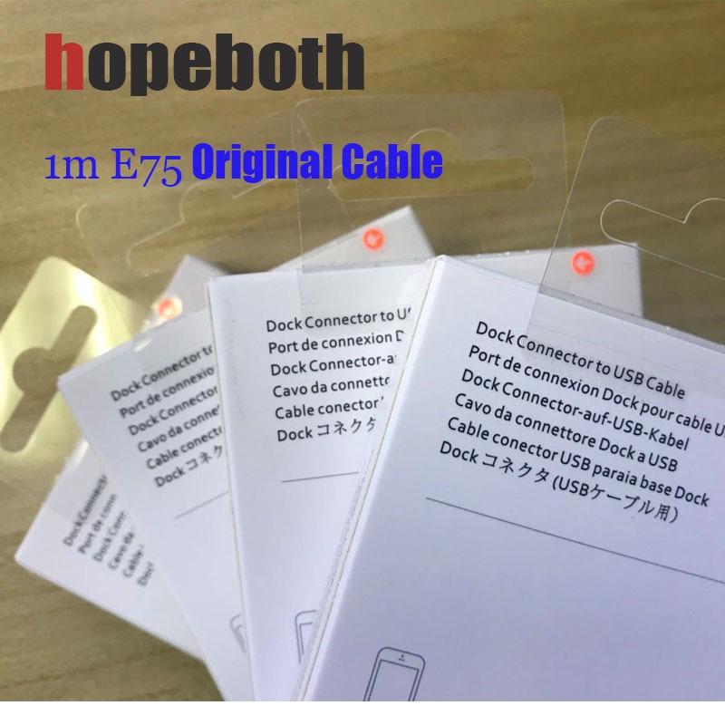 10pcs/lot Original 1M/3FT 2m/6FT E75 Chip OD 3.0mm Data USB Cable For Foxconn 5S 6 6s 7 7plus 8 8pl With retail box