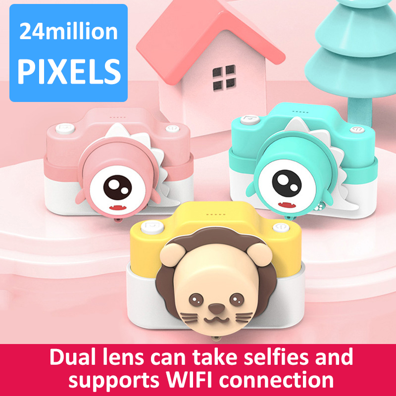WIFI Child Digital Camera Kids 1080P Projection Video Camera Children 2400W HD Mini Camera Educational Toys Gift For Baby