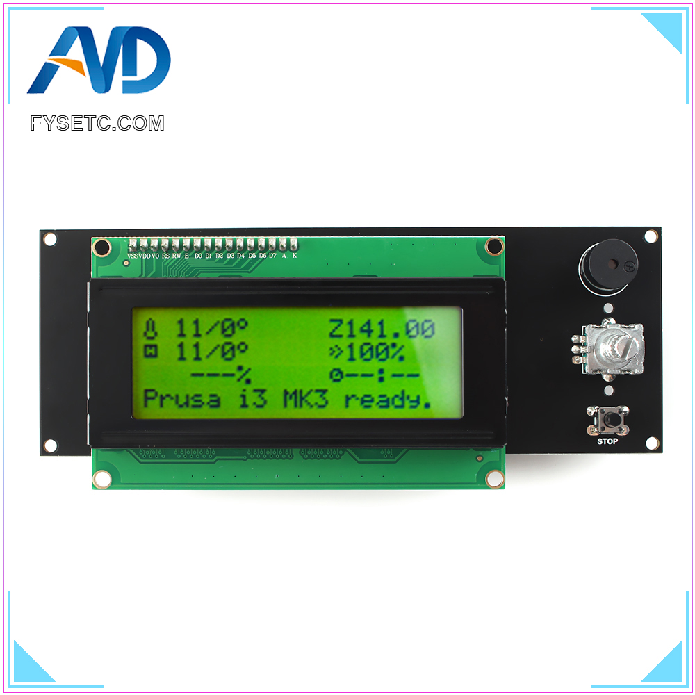 3D Printer 2004 LCD Controller with SD card slot for Ramps 1 4 - Display