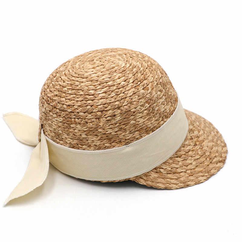 202006-gaoda-raphia à la main mélange couleur herbe armure dame baseball chapeau femmes loisirs visières casquette équestre