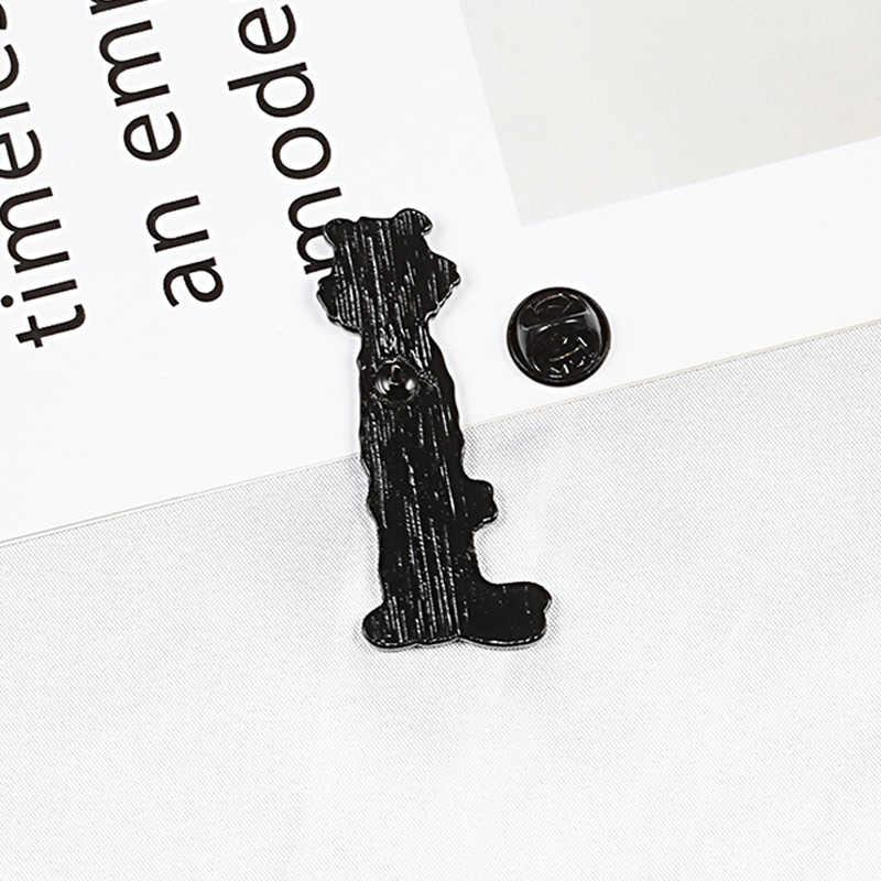 Yaramaz kaplan emaye pimleri broş rozetleri yaka pin yaratıcı hayvan Pins giysi sırt çantası pimleri takı çocuklar için hediye arkadaşlar