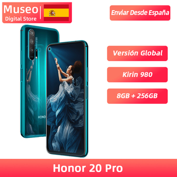Global Version Honor 20 Pro Smartphone 8GB 256GB Kirin 980 Octa Core 48MP Four Camera 6.26'' Cell Phone 4000mAh Google Play NFC 1