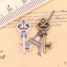30pcs Charms VINTAGE Skeleton Key 21 มม.โบราณจี้,VINTAGE ทิ(China)