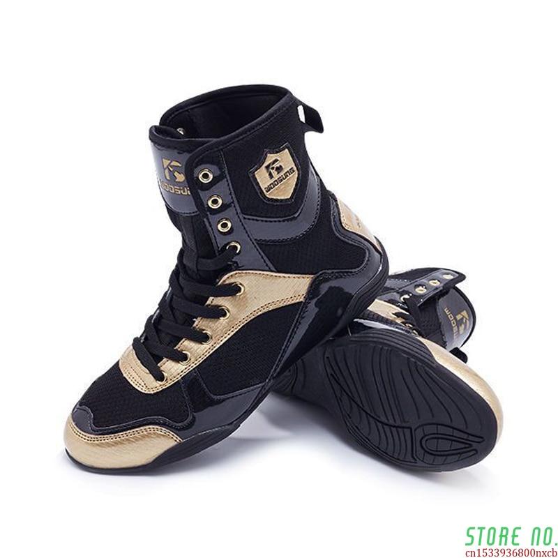 2020 Nueva Marca Profesional, Lucha Libre Zapatos Para Hombres Transpirable Antideslizante Lucha Zapatillas Hombre Tamaño 36-47 Zapatos De Boxeo