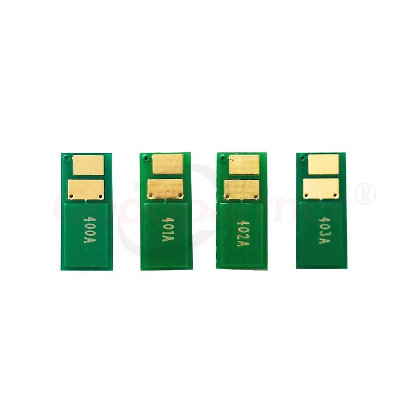 Refill CF400A - CF403A M277dw 4 x Toner Chip for HP Color M252dw
