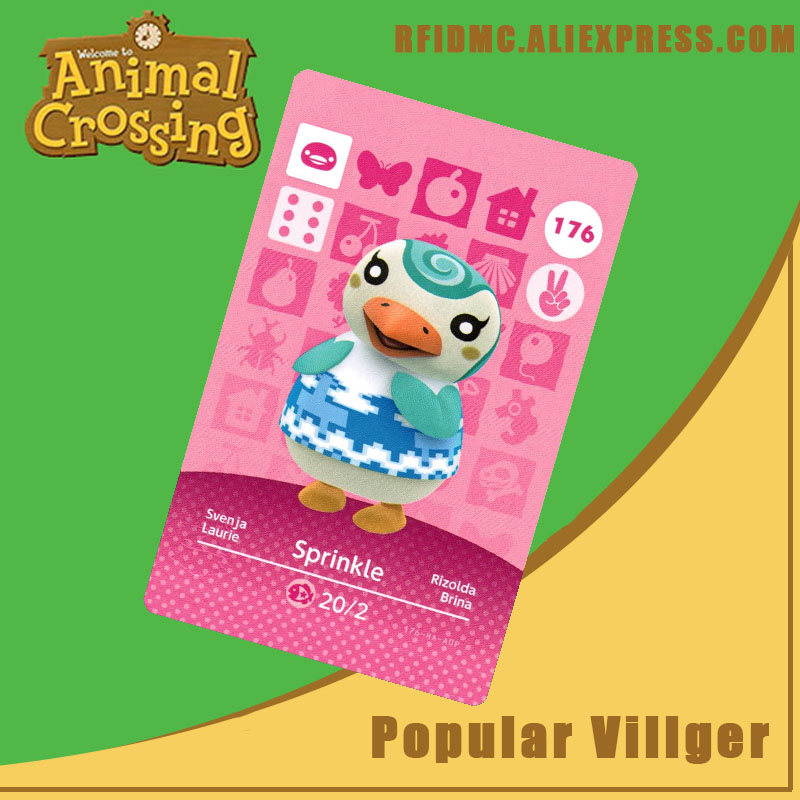 176 Sprinkle Animal Crossing Card Amiibo For New Horizons