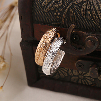 The One Ring Sauron Elves Frodo Baggins Gollum Tolkien Letters Gold Silver Color Fashion Movie Film Jewelry Men Women Wholesale image