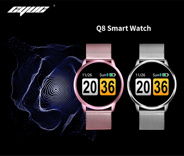 CYUC Q8 Smart Watch OLED Color Screen men Fashion Fitness Tracker Heart Rate Monitor Blood Pressure Oxygen Pedometer Smartwatch 1