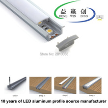 10 X 1M Sets/Lot T type Anodized Linear led light and kitchen lamp cabinet for recessed floor or wall lights