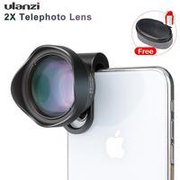 Ulanzi 65mm hd telefoto retrato telefone lente da câmera com 17mm clipe para iphone samsang android huawei smartphone móvel tele lente|Lentes para celular| |  -